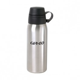 Stainless / Black 24 oz Dual Top Stainless Steel Water Bottle