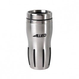Stainless / Black 15 oz Techno Tumbler