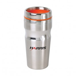Stainless / Orange 15 oz Accent Lid Band Tumbler