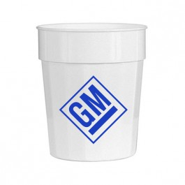 White 16 oz Fluted Stadium Cup