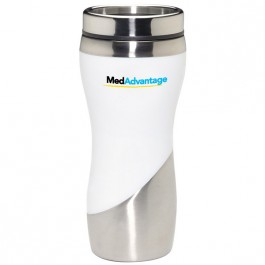 White 16 oz. Curve Travel Tumbler