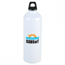 White 25 oz. Aluminum Trek Water Bottle