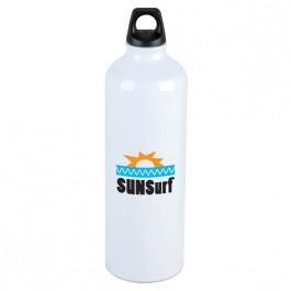 White 25 oz. Aluminum Trek Water Bottle
