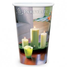 White 16 oz Reusable White Plastic Cup - Full Color