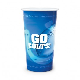 White 44 oz Reusable White Plastic Cup - Full Color