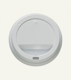 White 12-24 oz Paper Cup Lid White
