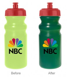 Yellow / Green / Red 20 oz Sun Color Changing Cycle Bottle (Full Color)