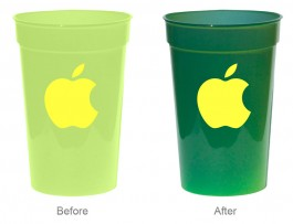 Yellow / Green 17 oz. Sun Color Changing Stadium Cup
