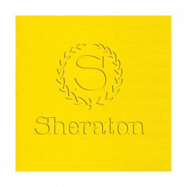 Yellow Embossed Linun Luncheon Napkin