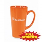 15 oz Orange or Red Vitrified Restaurant Ceramic Coffee Mug