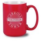 13 1/2 oz El Grande Two Tone Red Vitrified Ceramic Coffee Mug