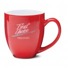 14 1/2 oz Bistro Red Vitrified Ceramic Coffee Mug