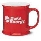 13 1/2 oz Corporate Red Vitrified Ceramic Coffee Mug