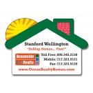 2.75 x 1.875 House w/ Sun Magnet