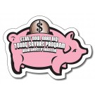 3.5 x 2.5 Piggy Bank Shape Magnet