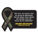 3.5625 x 2.45 Rectangle with Awareness Ribbon Magnet