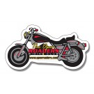 4.25 x 2.25 Motorcycle Shape Outdoor Magnet