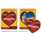 3.5 x 4.5 Round Corner Picture Frame Magnet - Heart Punch out