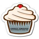 4.0625 x 3.75 Cupcake Shape Magnet