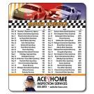 3.5 x 4 Round Corner NASCAR Sport Schedule Magnet