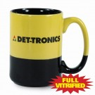 13 1/2 oz Varsity Yellow & Black Vitrified Ceramic Coffee Mug