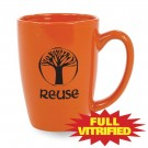 14 1/2 oz Red or Orange Vitrified Restaurant Ceramic Coffee Mug
